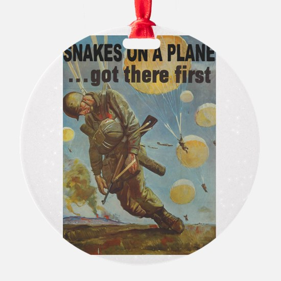 Snakes on a Plane Ornament