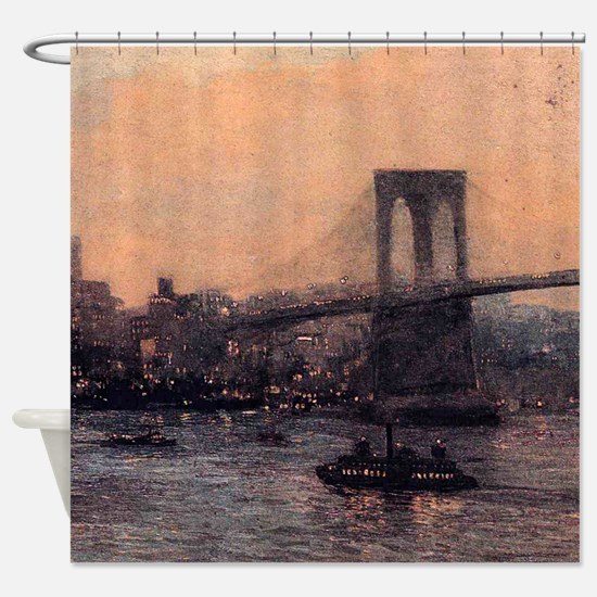 Edward Willis Redfield Brooklyn Bridge Shower Curt