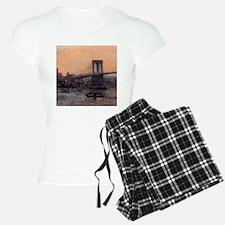 Edward Willis Redfield Brooklyn Bridge Pajamas