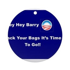 It's Time To Go Barry O Ornament (Round)