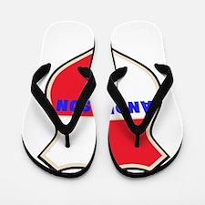 Personalized shield Flip Flops