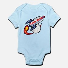 Personalized rocket Infant Bodysuit