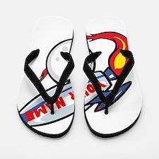 Personalized rocket Flip Flops