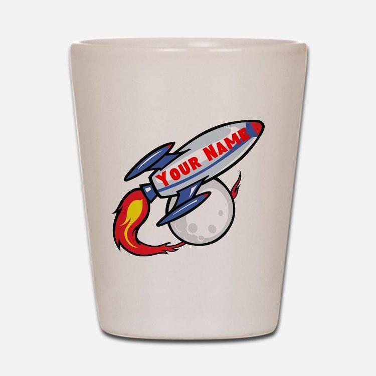 Personalized rocket Shot Glass