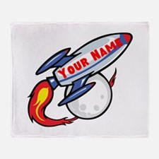 Personalized rocket Throw Blanket