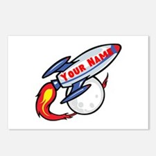 Personalized rocket Postcards (Package of 8)