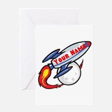 Personalized rocket Greeting Card
