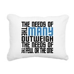 Needs of the Many Rectangular Canvas Pillow