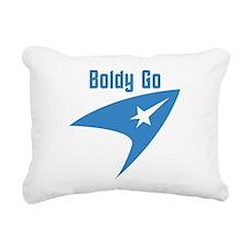 Boldly Go Rectangular Canvas Pillow