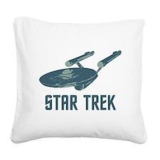 Retro Enterprise Square Canvas Pillow