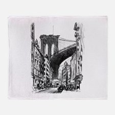 Pennell Joseph Brooklyn Bridge Throw Blanket