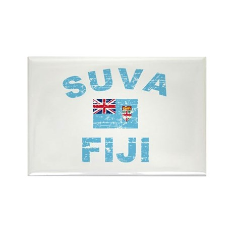 Suva Fiji Designs Rectangle Magnet