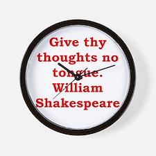 william shakespeare Wall Clock