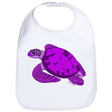 Purple Turtle Bib