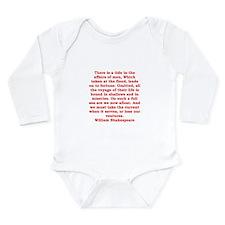 william shakespeare Long Sleeve Infant Bodysuit