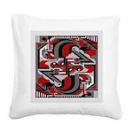 Vintage Deco Tech Square Canvas Pillow