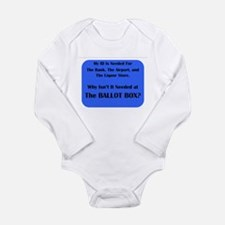 Voter ID Required Long Sleeve Infant Bodysuit