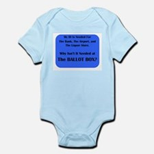 Voter ID Required Infant Bodysuit