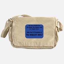 Voter ID Required Messenger Bag