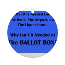 Voter ID Required Ornament (Round)