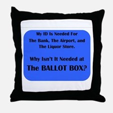 Voter ID Required Throw Pillow