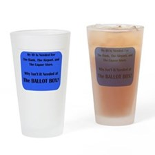 Voter ID Required Drinking Glass