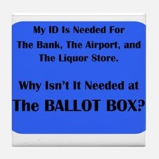 Voter ID Required Tile Coaster