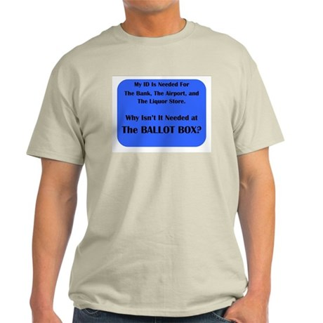 Voter ID Required Light T-Shirt