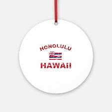 Honolulu Hawaii Designs Ornament (Round)