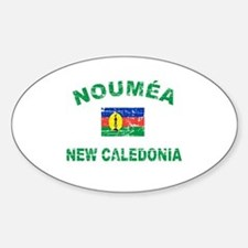 Noumea New Calidonia Designs Sticker (Oval)