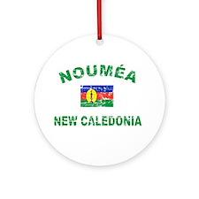 Noumea New Calidonia Designs Ornament (Round)