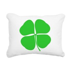 Four Leaf Clover Rectangular Canvas Pillow