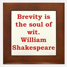 william shakespeare Framed Tile