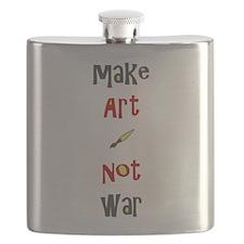 Make Art Not War Flask