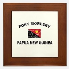 Port Moresby Papua New Guinea Design Framed Tile