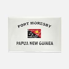 Port Moresby Papua New Guinea Design Rectangle Mag