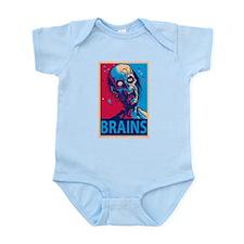 Obama Zombie Brains Infant Bodysuit