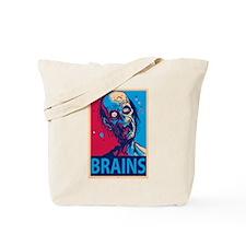 Obama Zombie Brains Tote Bag