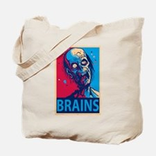 Obama Zombie Brains Tote Bag