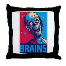 Obama Zombie Brains Throw Pillow