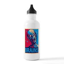 Obama Zombie Brains Sports Water Bottle