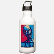 Obama Zombie Brains Water Bottle