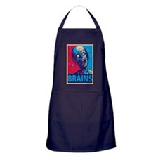 Obama Zombie Brains Apron (dark)
