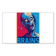 Obama Zombie Brains Decal