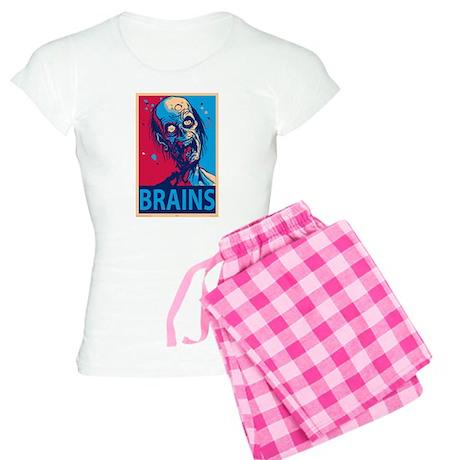Obama Zombie Brains Women's Light Pajamas