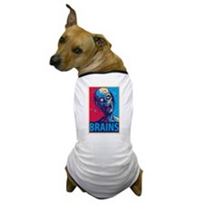 Obama Zombie Brains Dog T-Shirt