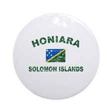 Honiara Solomon Islands Designs Ornament (Round)
