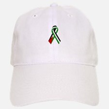 Palestinian Ribbon for Justice & Peace White Baseball Baseball Cap