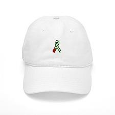 Palestinian Ribbon for Justice & Peace White Baseball Cap
