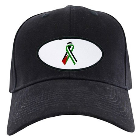 Palestinian Ribbon for Justice & Peace Black Cap